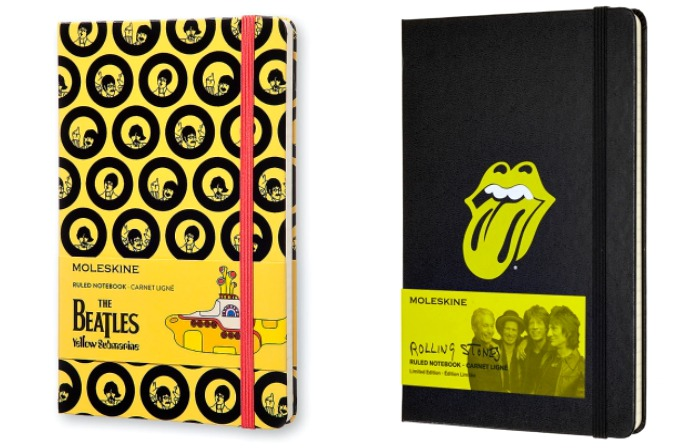 Limited edition Moleskine notebooks: The Beatles and Rolling Stones