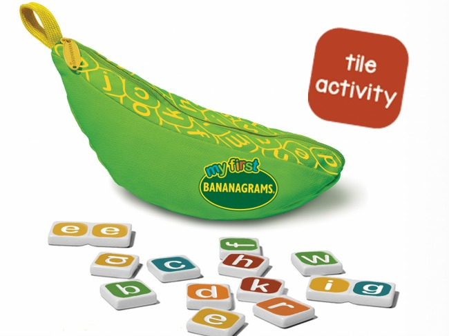 Birthday gift ideas for preschoolers under $15: My First BANANAGRAMS