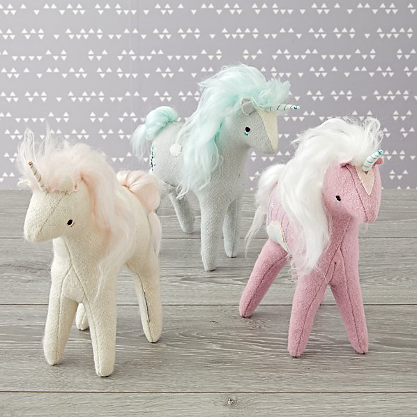 Birthday gift ideas for preschoolers under $15: Mythical Edition Plush Unicorns