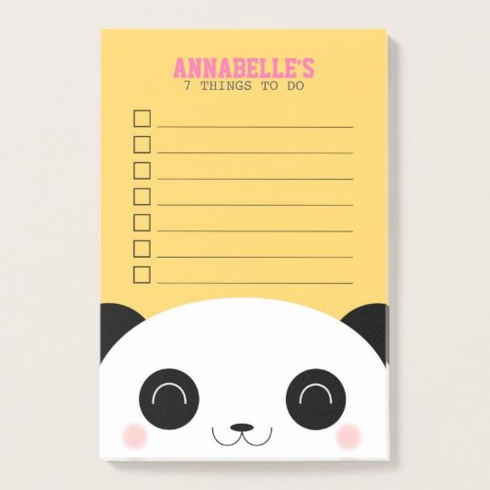 Kawaii Panda Face Kids To Do List Post-it Notes | Cutest Animal School Supplies | back to school shopping 2017