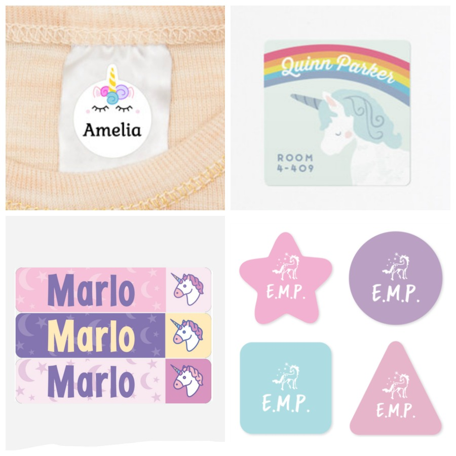 cool unicorn name labels from 4 different companies: cool mom picks back to school shopping guide 2017