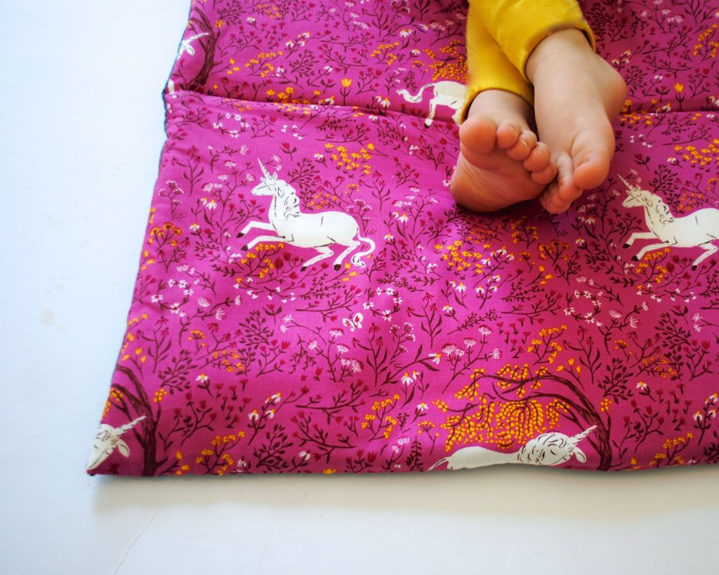 Handmade unicorn nap mat for toddlers and preschool by Sewn Natural on Etsy | cool mom picks