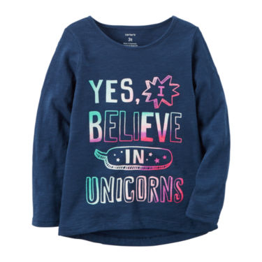 Yes I Believe in Unicorns girls tee on sale | cool mom picks back to school shopping guide 2017