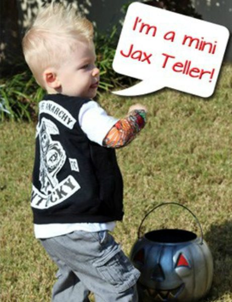 Hottest pop culture baby Halloween costumes: Jax Teller via Where the Smiles Have Been