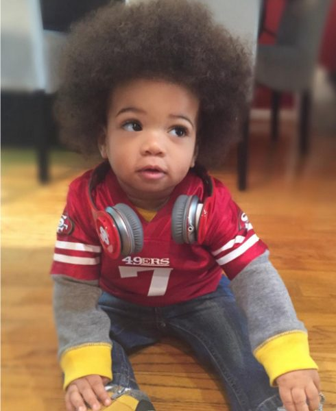 Hottest pop culture baby Halloween costumes: Colin Kaepernick baby via Hanalulu12 on IG