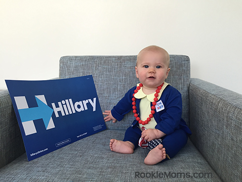 No-sew Halloween costumes: Hillary Clinton Costume | Rookie Moms