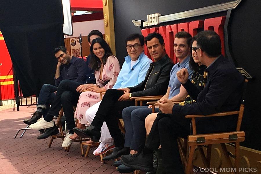 LEGO NINJAGO Movie cast: Kumail Nanjiami, Zach Woods, Olivia Munn, Jackie Chan, Justin Theroux, Dave Franco, Abbi Jacobson, Fred Armisen | © Cool Mom Picks