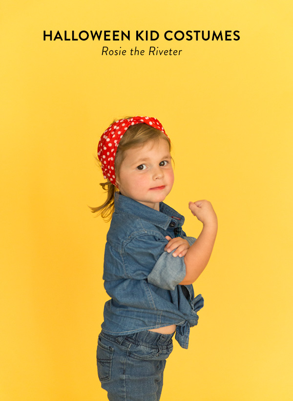 No-sew Halloween costumes: Rosie the Riveter No-Sew Costume | Say Yes