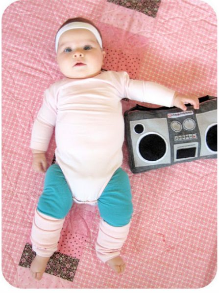 Hottest pop culture baby Halloween costumes: 80s characters, valley girl, aerobics chick via Homemade by Jill