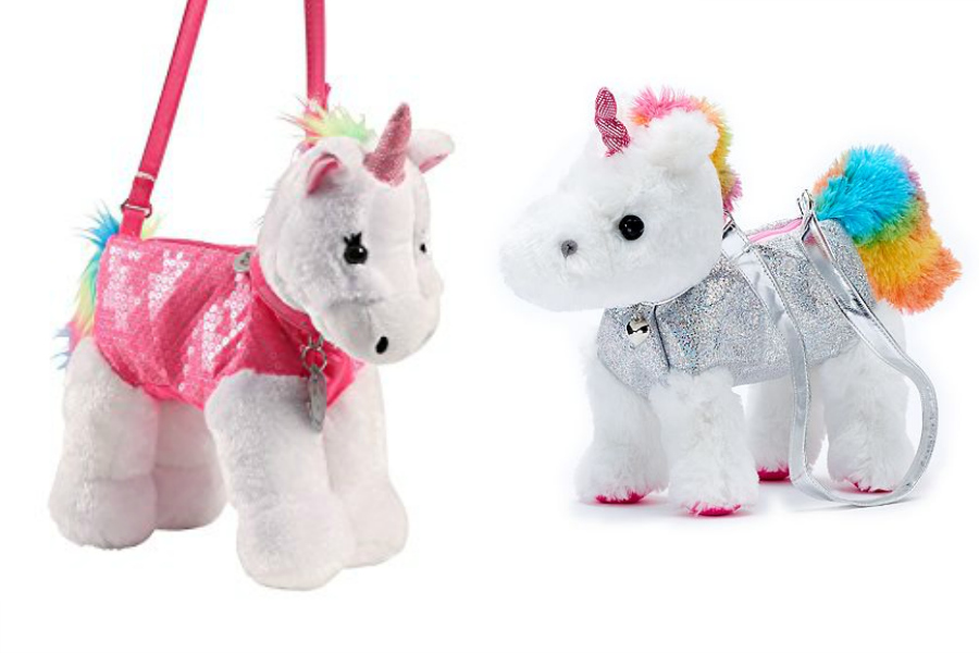 Adorable plush unicorn purses: Great gift for little kids!