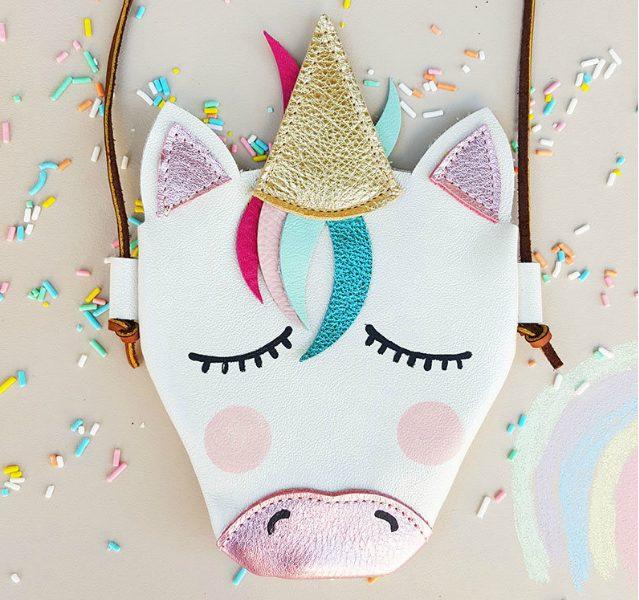 Handmade unicorn purse for kids | Tiny Heir Moccs on Etsy