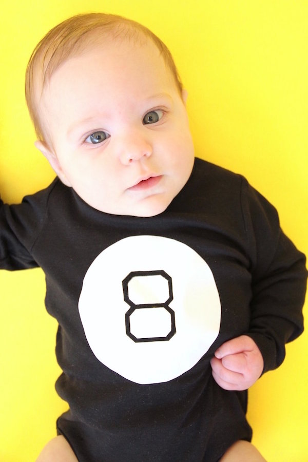 Baby Halloween costumes from onesies: Baby Magic 8-Ball Costume by And We Play