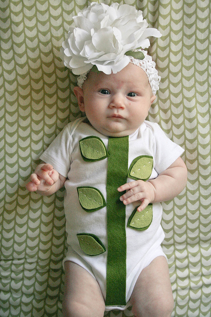 Easy baby Halloween costumes from onesies Little Flower DIY by Your Wish Cake  sc 1 st  Cool Mom Picks & Easy creative baby Halloween costumes you can make with onesies