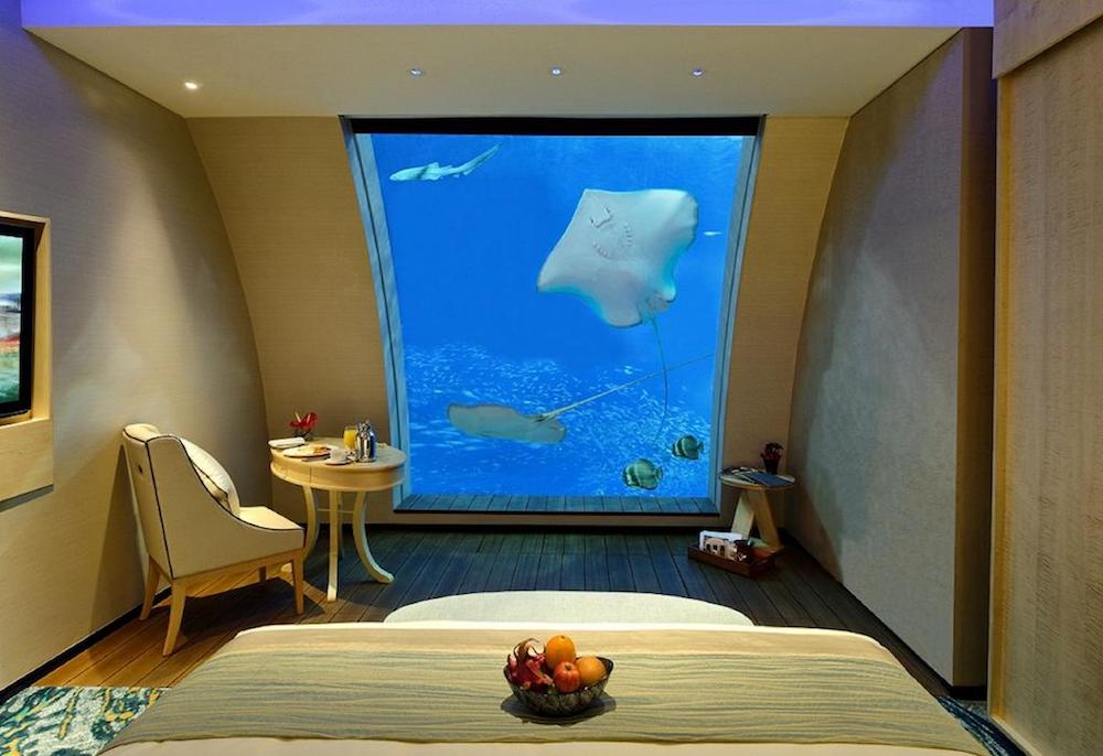 Coolest vacations to take with the kids: Book an underwater hotel room at the Resort World Santosa in Singapore