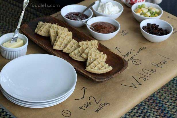 DIY waffle bar ideas for a Stranger Things party | via Foodlets for the Food Network