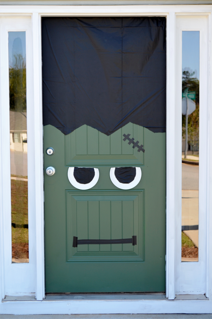 DIY Halloween Door Decorating Ideas | Frankensteinu0027s Monster By Green And  Gorgeous