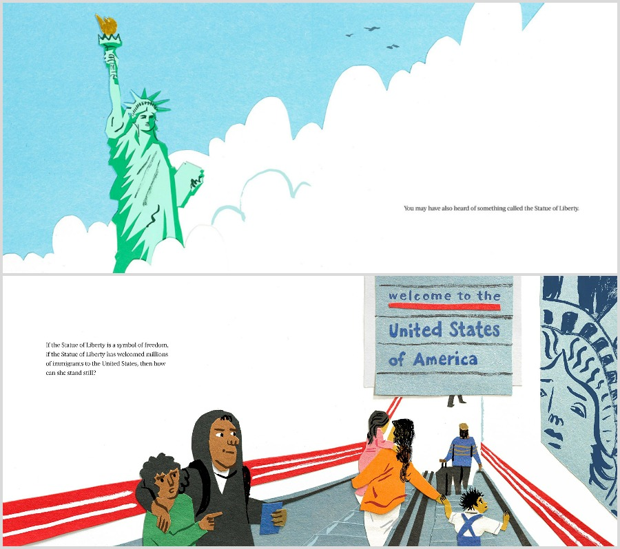 Alternate 4th of July celebration ideas: Read a book celebrating America, like Her Right Foot by Dave Eggers