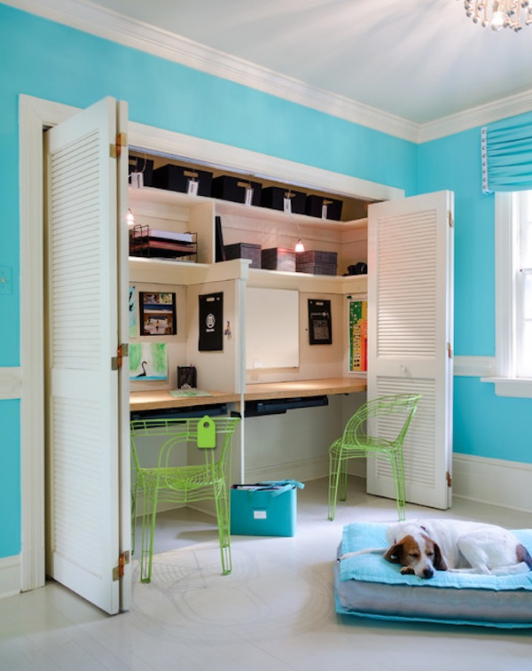 Kids' workspace ideas: Closet Workspace by Kathy Corbet Interiors
