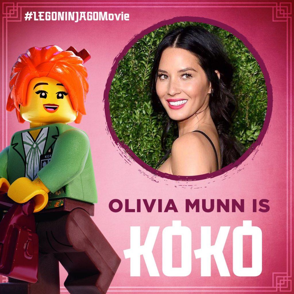 Olivia Munn as Koko in the LEGO NINJAGO Movie