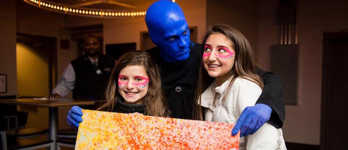 Outrageous birthday party ideas for kids: Blue Man Group