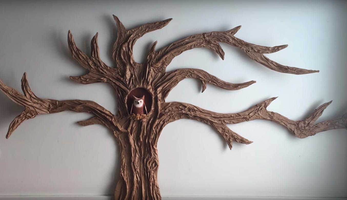 Stranger Things party ideas: Paper Mâché Tree Tutorial | Green Arts