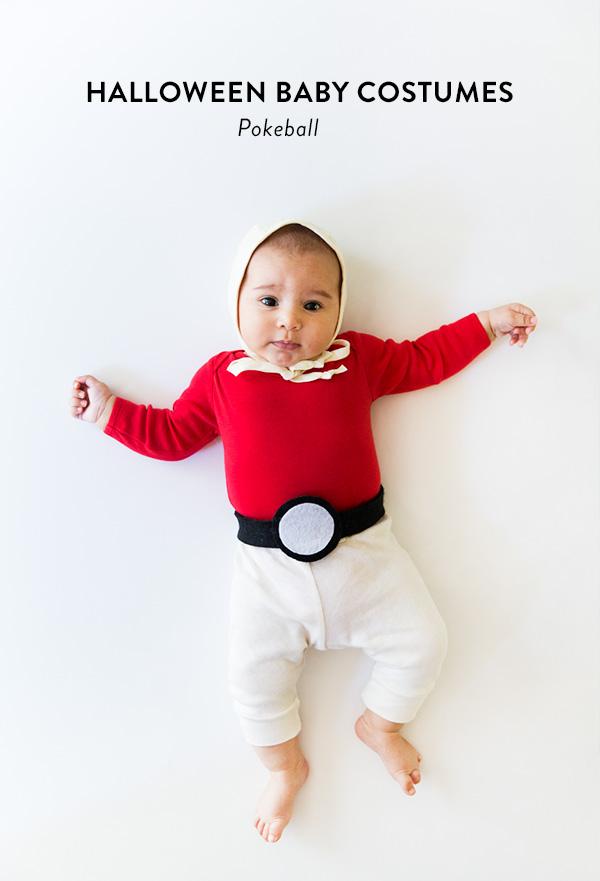 No-sew Halloween costumes: Pokeball Baby Costume   Say Yes