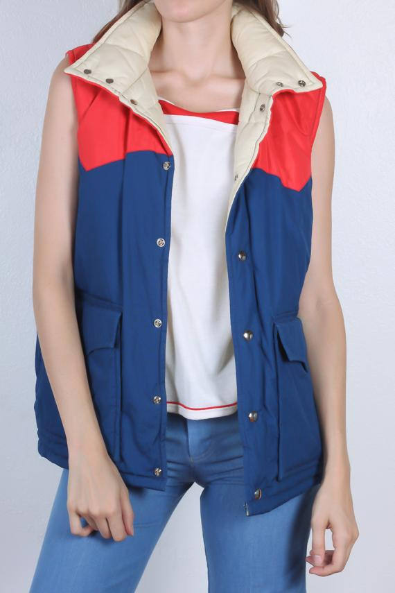 Stranger Things party ideas: Vintage Puffy Vest | Flying Apple Vintage