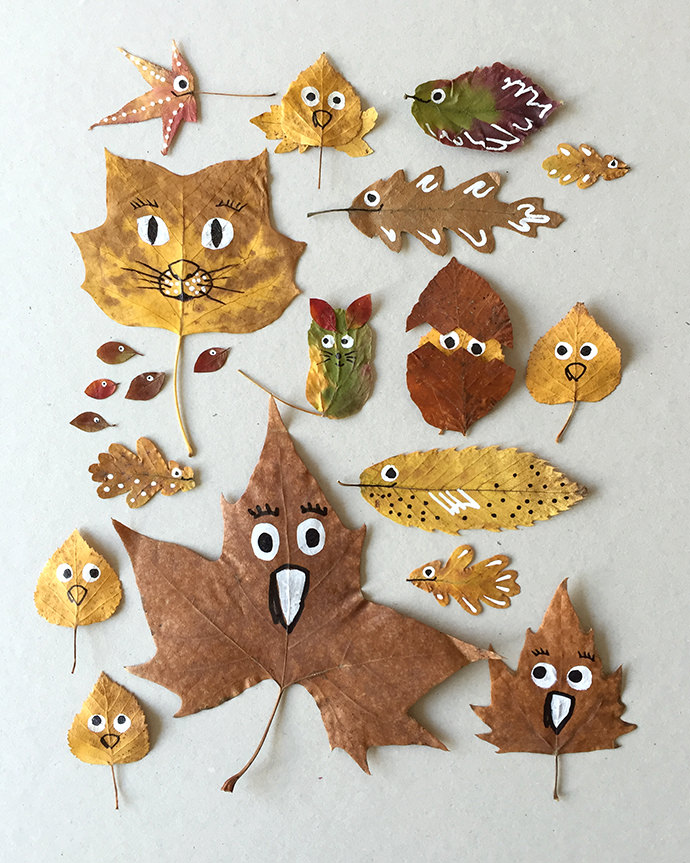 Kids crafts using fall leaves: Quirky Leaf Friends| Handmade Charlotte