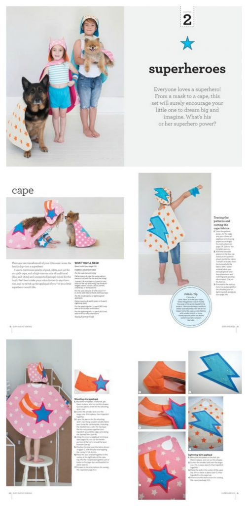 DIY SUPERHERO CAPES AND ACCESSORIES | From: Superhero Sewing Patterns by Lane Huerta, featuring the patterns and DIY instructions from the super popular Etsy shop | cool mom picks