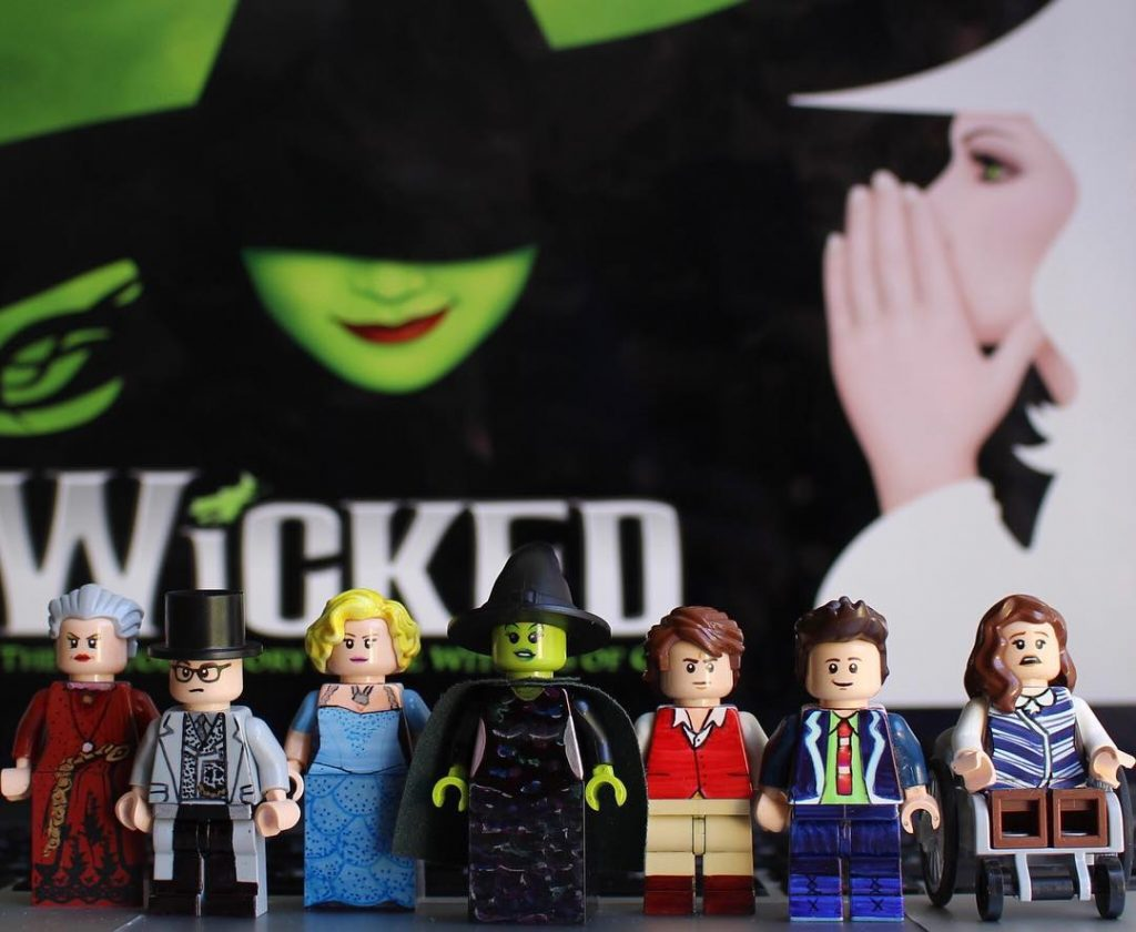 Wicked and other Broadway hits recreated as LEGO by Broadway Bricks
