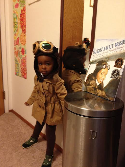 Strong girl Halloween costumes based on real heroes: Bessie Coleman from mom Camille, via Rad American Women A to Z