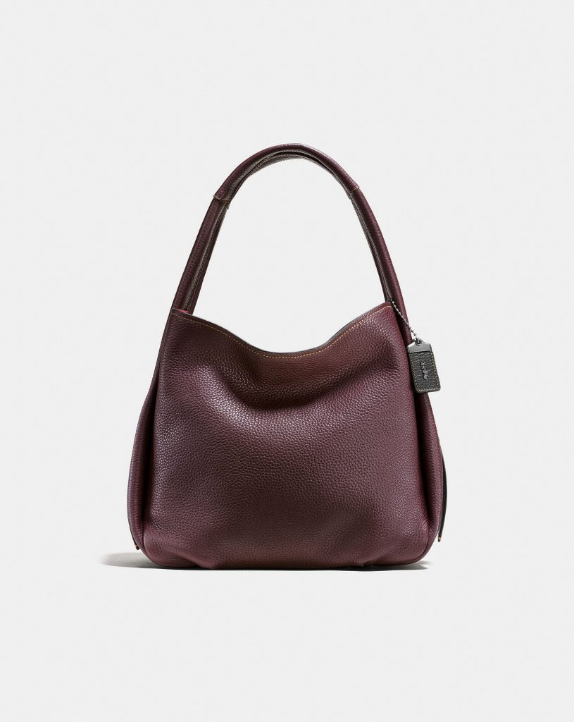 Coach Bandit Hobo in Oxblood: colorful handbags for fall!
