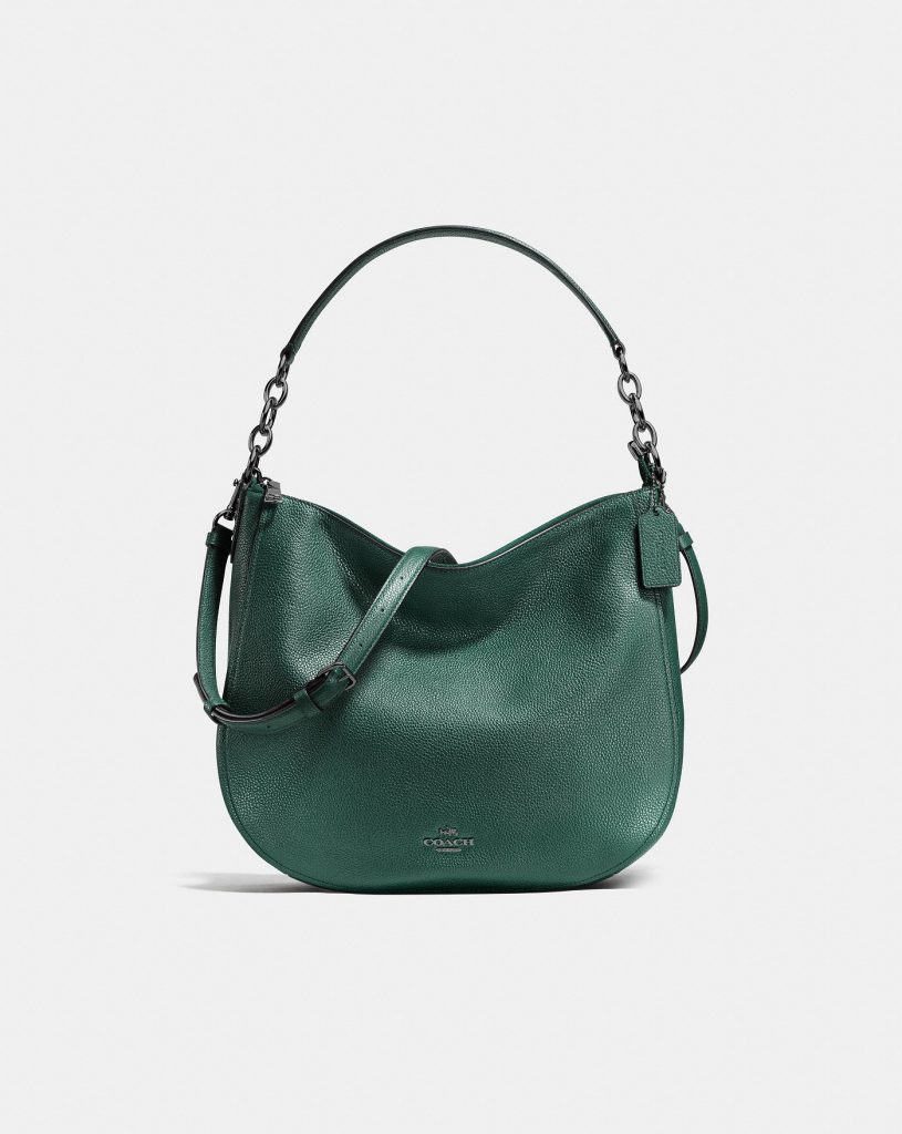 Coach Chelsea Hobo 32 Handbag in Dark Turquoise Green for Fall