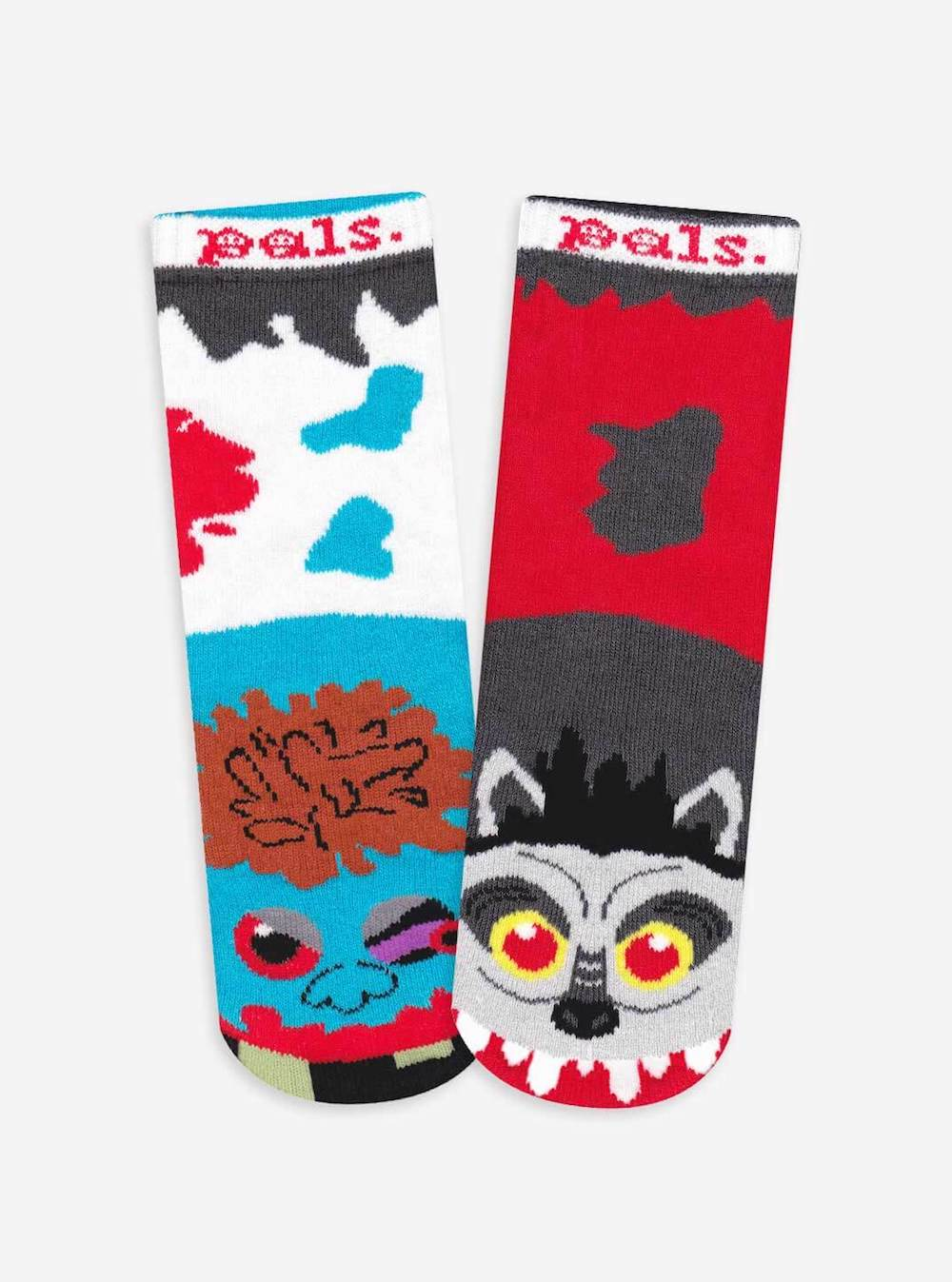 Easy Halloween costume for babies: Mismatched PALS Halloween socks