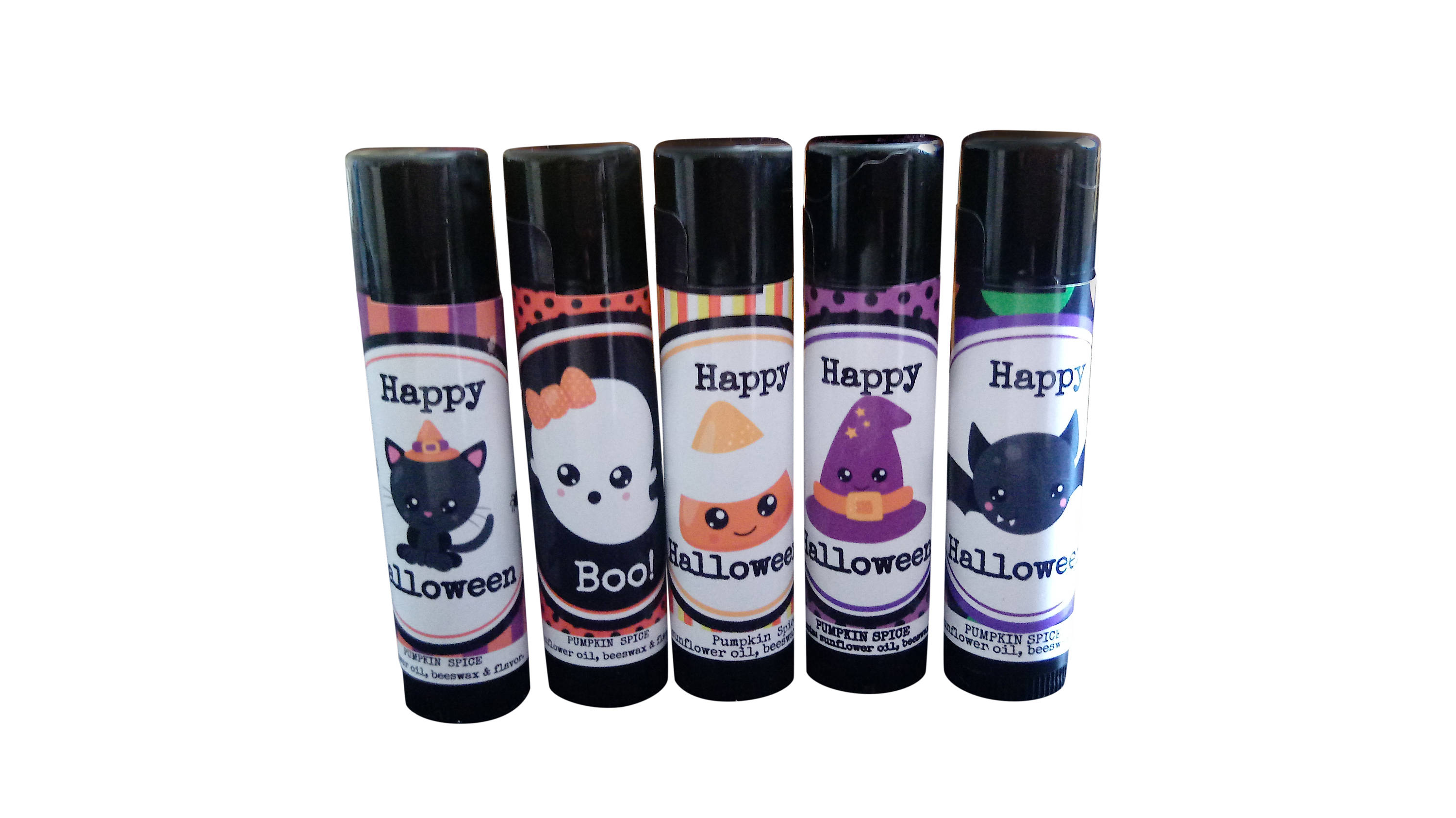 Non-candy Halloween treats: Halloween lip balms | Personalized by DJ