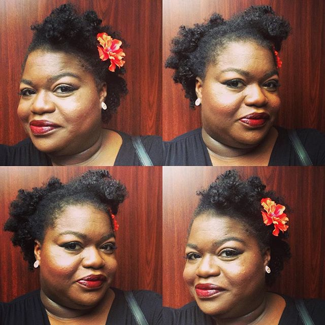 Black beauty tips from my mother: Always carry red or berry lipstick. Here's a perfect one.