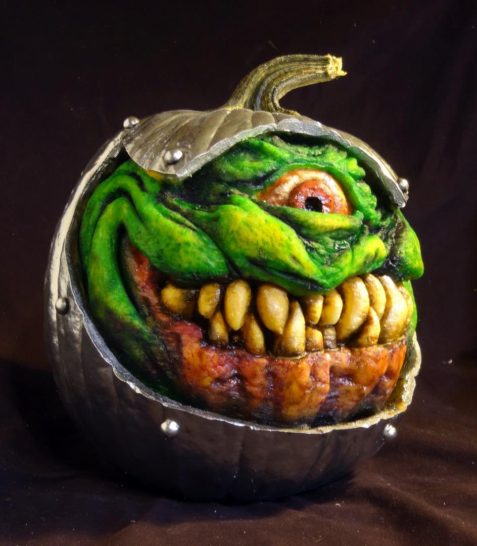 Creepiest Halloween pumpkins: Monster Pumpkin| Jon Neill via LCAD