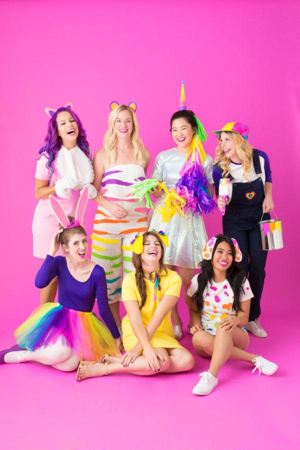 Last-minute Halloween costumes for moms: Lisa Frank costumes at Studio DIY