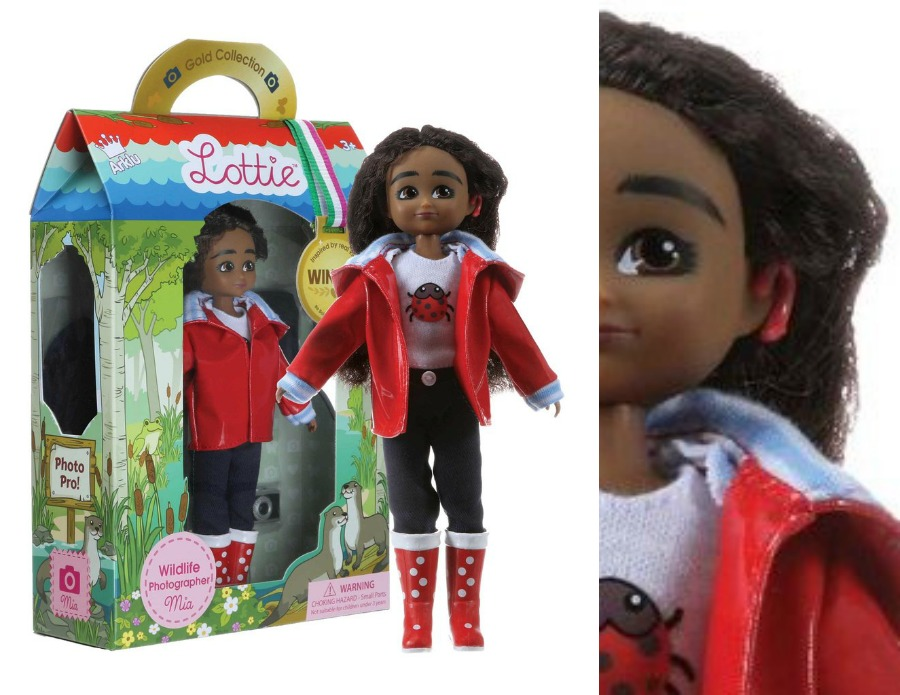 Wildlife Photographer Mia is the newest Lottie Doll and has a cochlear implant