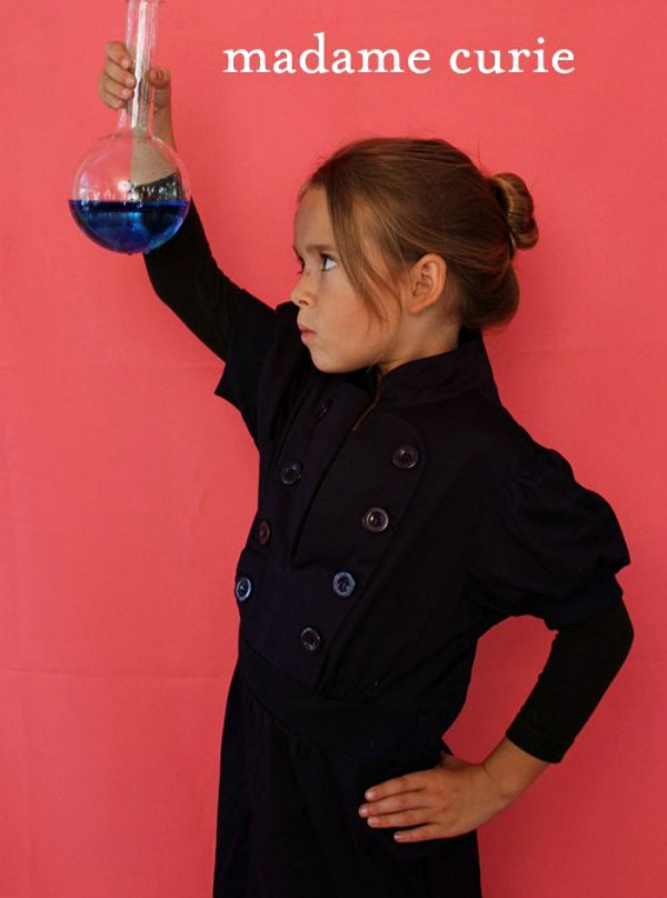 Empowering girl Halloween costumes based on real life heroes: Marie Curie on Alpha Mom by Brenda Ponnay