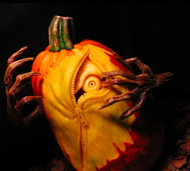 Creepiest Halloween pumpkins: Creepy Pumpkin | MB Creative Studio