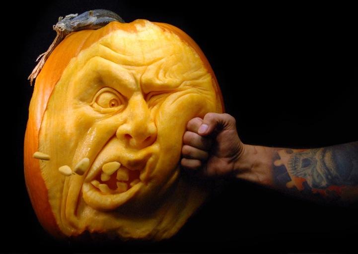 Creepiest Halloween pumpkins: Ray Villafane Punch Drunk Pumpkin | Fresh Pics