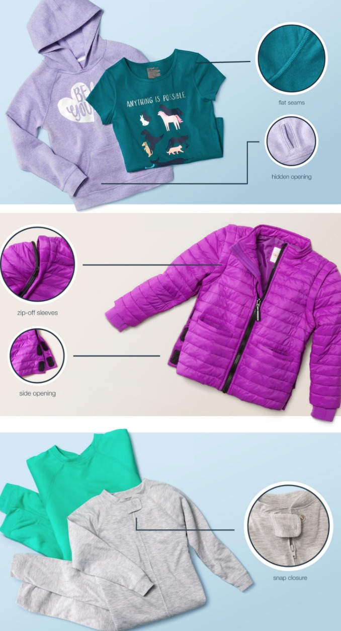 aa066a299 Target's brand new adaptive clothing line for kids with special needs  includes essential features that make