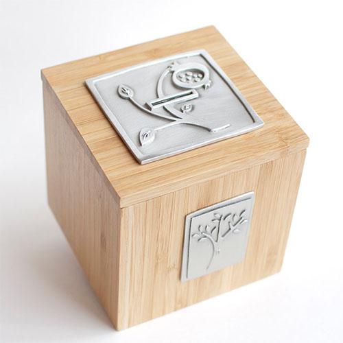 Cool Hanukkah gifts: Modern handmade Tzedakah box with proceeds benefitting the ACLU