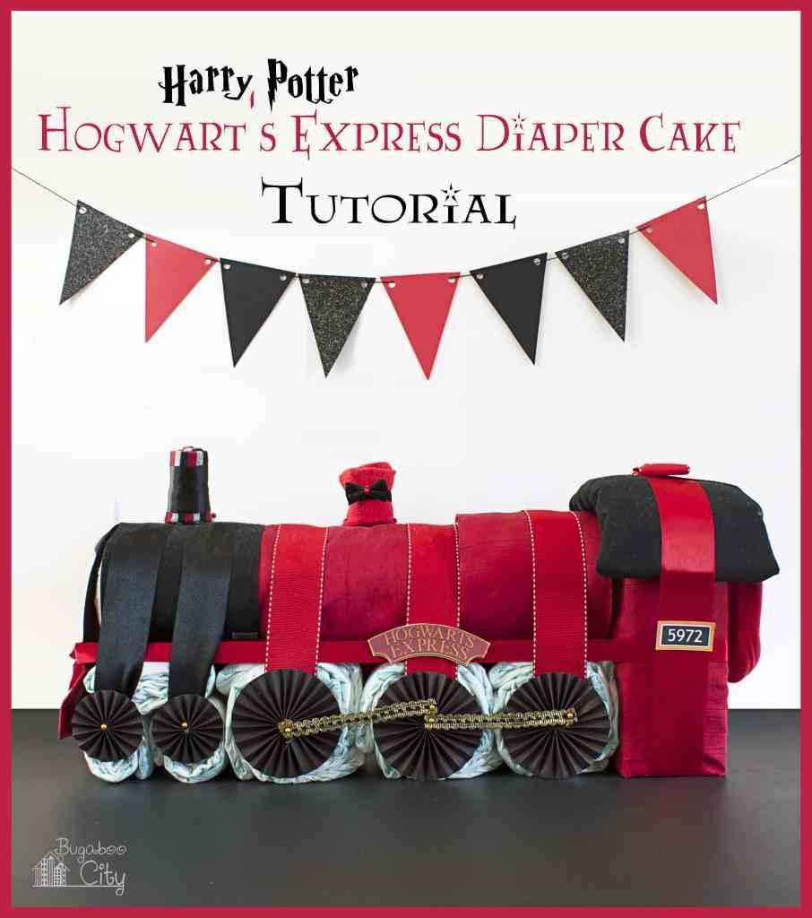Cool diaper cakes: Harry Potter Hogwart's Express diaper cake | Bugaboo City