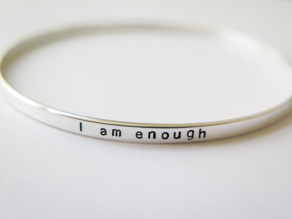 I am enough bracelet: Self-care gifts