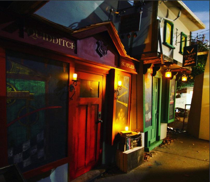 Jonathan Chambers' homemade Diagon Alley