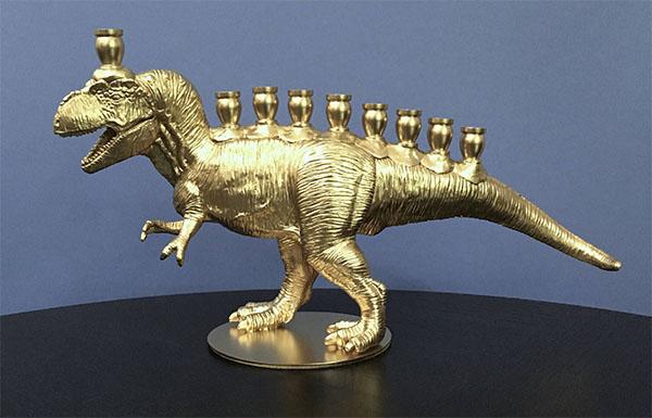 Cool Hanukkah gifts: Menorahsaurus Rex menorah!