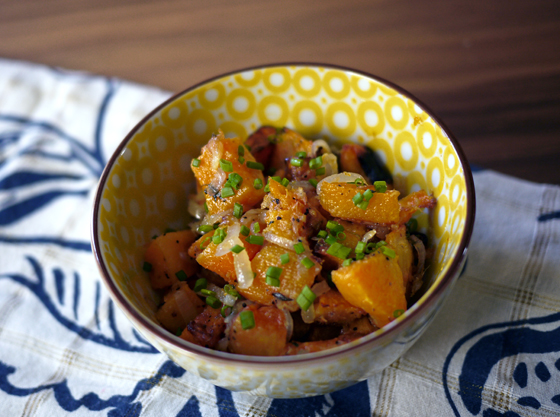 Last-minute Thanksgiving side dish recipe: Roasted Squash with Ginger Shallot Brown Butter | One Hungry Mama