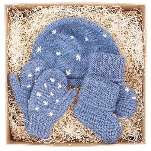 Cool Hanukkah gifts: fair trade baby knits gift set at The Little Market